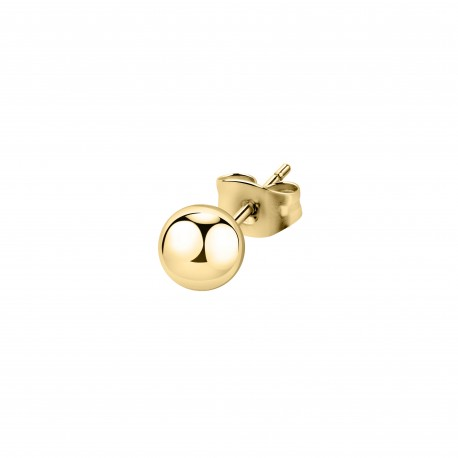 STUD EARRING YG BOULE 6MM