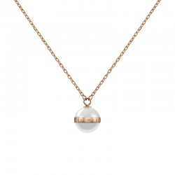ASPIRATION NECKLACE RG WHITE