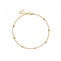 ANKLET RAINBOW IP GOLD