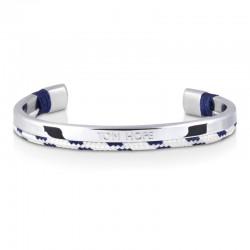 Bracelet Tom Hope Hybrid Cuff-SV/WT/BL-taille M