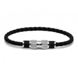 BR SILVER LEATHER BLK TWINE BLK S