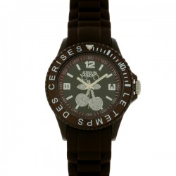 Montre LTC ref TC16, cad marron, brac caoutchouc marron