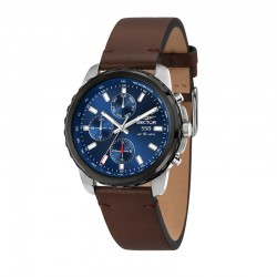 550 45MM MULT BLK CASE BLUE DIAL BROWN S