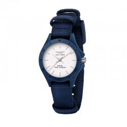 SAVE THE OCEAN 32MM 3H WHITE DIAL BLUE S