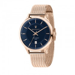 GENTLEMAN 43mm 3H BLUE DIAL RG MESH BR