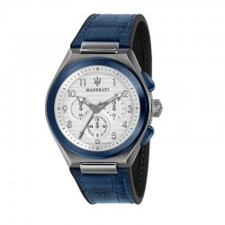 TRICONIC 43MM CHR WHITE DIAL BLUE ST