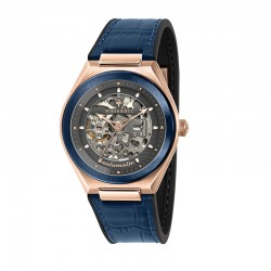 TRICONIC 40mm AUTO GRAY DIAL BLUE ST