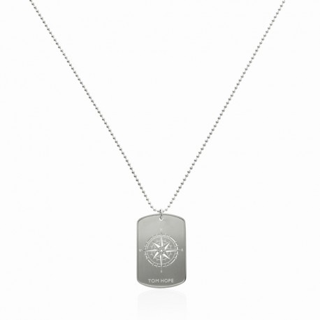 NECKLACE COMPASS - SILVER
