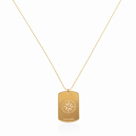 NECKLACE COMPASS - GOLD