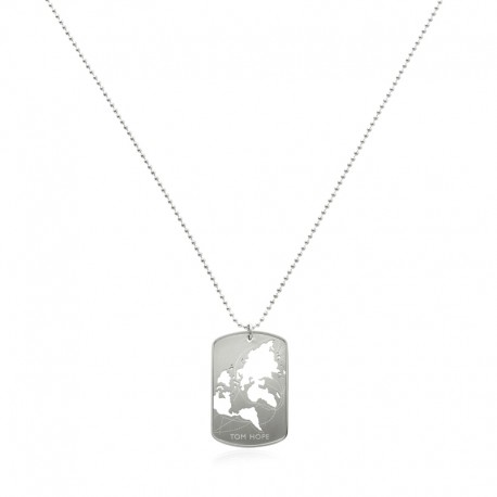 NECKLACE WORLD CUT-OUT - SILVER